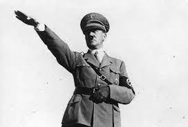 saluting hitler